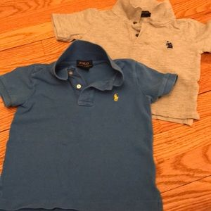 Ralph Lauren Polos 2T - one blue and one gray